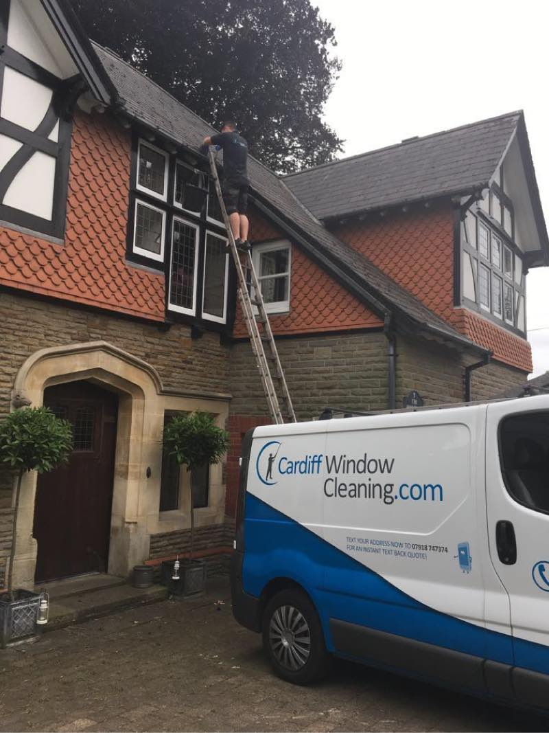 uPVC and gutter cleaning in Cardiff